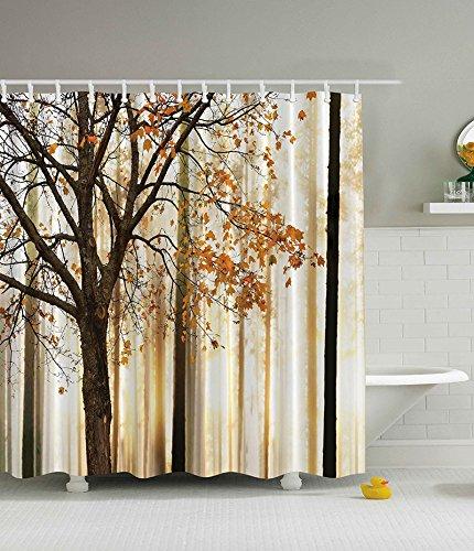 SUHANG Polyester-Duschvorhang mit mit Duschvorhang, Polyester, wasserdicht...