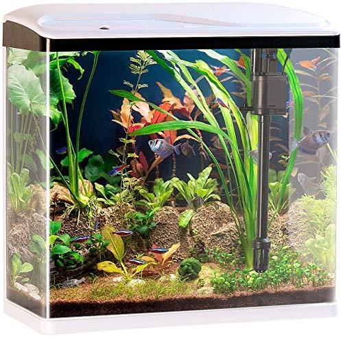 Sweetypet Aquarium Komplettset: Nano-Aquarium-Komplett-Set mit LED-Beleuchtung,...
