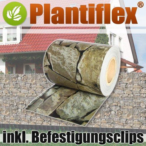 Plantiflex Sichtschutz Rolle 35m Blickdicht PVC Zaunfolie Windschutz für...