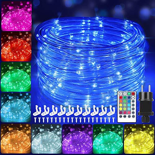 12m Bunt LED Lichtschlauch Außen,IP68 LED Wasserdicht Bunt...