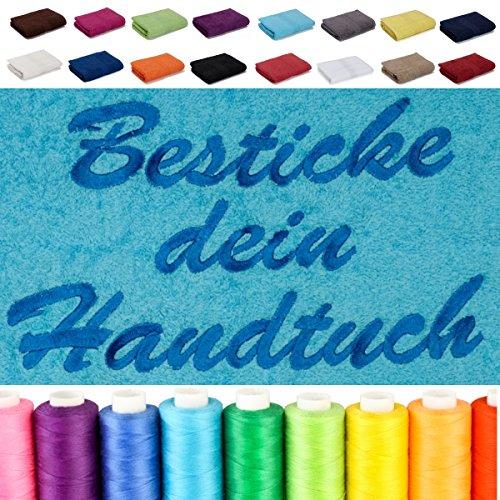 Besticken Sie Handtuch mit Namen oder mit Wunschtext bestickt, Saunatuch...