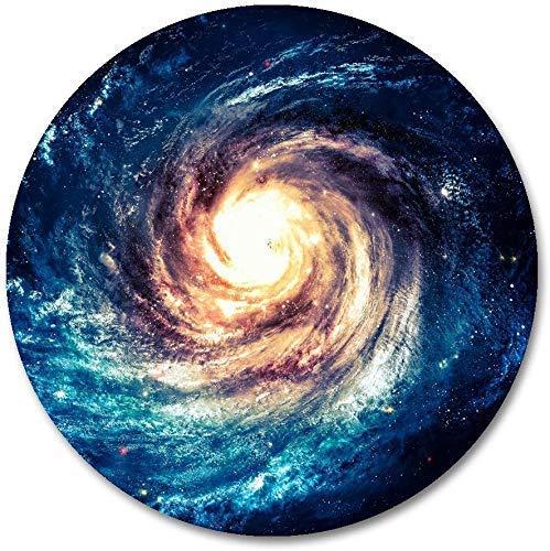 Andromeda Mauspad / Mauspad, rund, mit schwarzem Loch, rutschfest, Gummi, 002, 4...