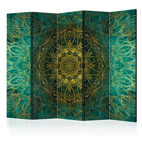 murando Raumteiler & Pinnwand Foto Paravent Mandala 225x172 cm beidseitig auf...