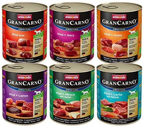 Animonda Gran Carno adult Hundefutter, Nassfutter für erwachsene Hunde, Mix 1,...