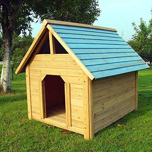 Melko Hundehütte Hundehaus Haustierhütte Hundehöhle aus Holz, 95 cm