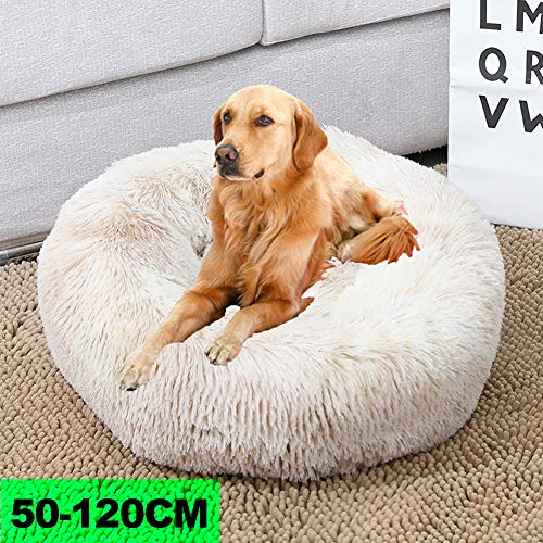 WYJHNL Deluxe Haustierbett Hundebett Katzenbett Rundes, Plüsch Hundesofa...