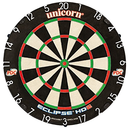 Unicorn Eclipse HD2 Pro Bristle Dartboard, inkl. Unicorn Unilock Levelling...