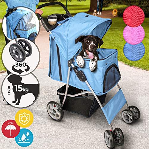 Leopet Hundebuggy für Hunde - bis 15 kg, aus Wasserdichtem Material, mit...