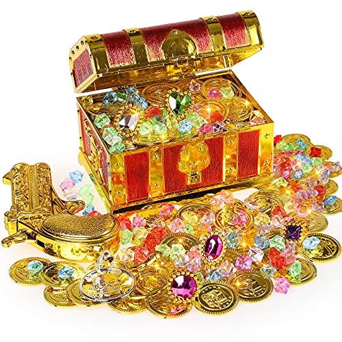 Ulikey Mini Piraten Schatzkiste Box, Goldmünzen Piratenschatz Piraten...