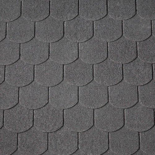 Dachschindeln Biberschwanz 3 m² mit Glasvlieseinlage Bitumenschindeln Schindeln...
