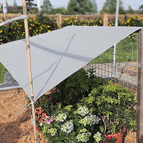 JLXJ Sonnenschutznetz schattiernetz Rechteck 90% Schattentuch, Graues Netzgewebe...