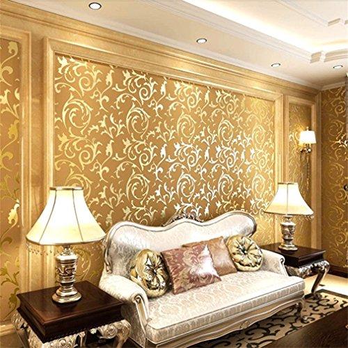 aixu Luxus-Damastvlies im europäischen Stil 3D-Tapete Geprägtes...