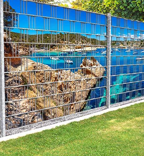 MyMaxxi Infinity Zaunsichtschutz   Beach 02 Teil1 Motiv  Sichtschutzstreifen...
