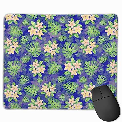 25 x 30 cm Gaming-Mauspad für Zuhause, Büro, tropisches Blumenmuster, Kunst,...