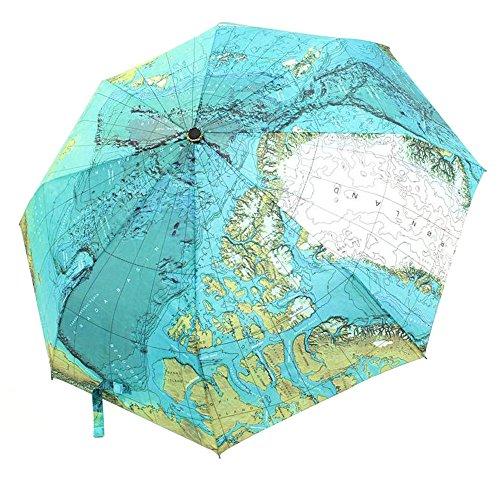 CHRISLZ Weltkarte Regenschirm Automatische Regenschirm Faltbar Sonnenschutz...
