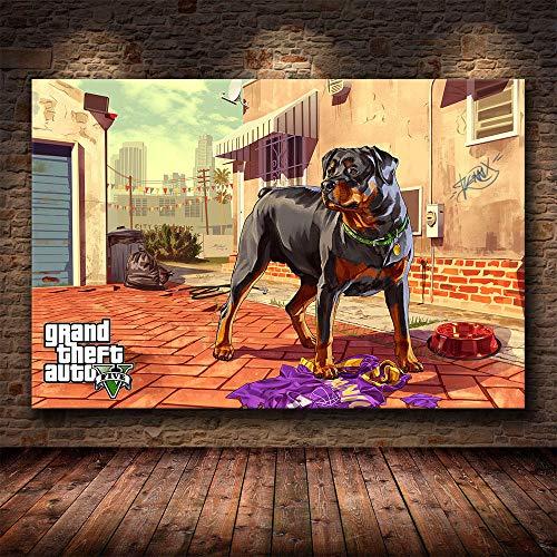 Grand Theft Auto V Spiel Poster GTA 5 Leinwand Kunstdruck Gemälde Wandbilder...