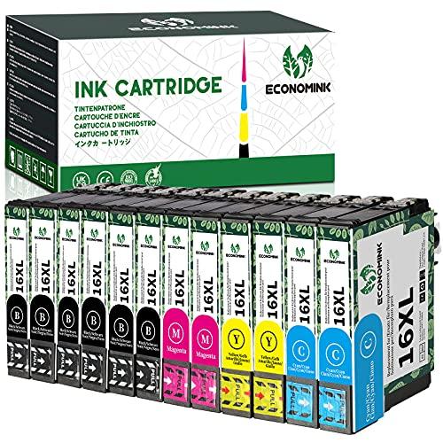 Economink Druckerpatronen Ersatz für Epson 16 16 XL Druckerpatronen für Epson...