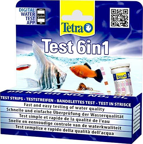 Tetra Test 6in1 Wassertest, für das Aquarium, schnelle und einfache...