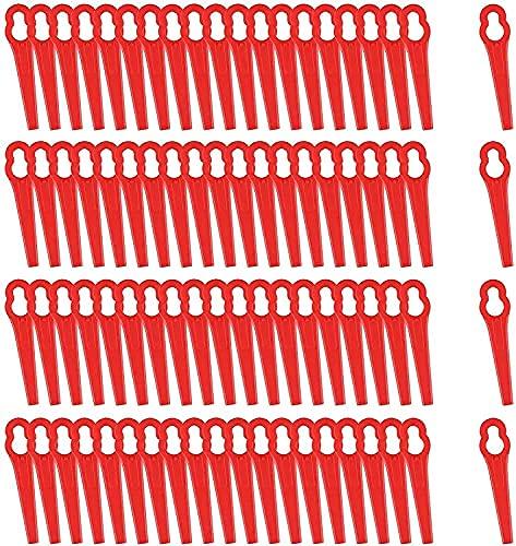 80 Stücke Rasentrimmer Messer Rot Kunststoff Ersatzmesser, trimmer...