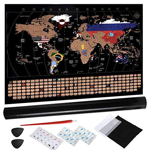 Anpro Weltkarte zum Rubbeln, Rubbel Weltkarte Rubbel Landkarte Weltkarte...