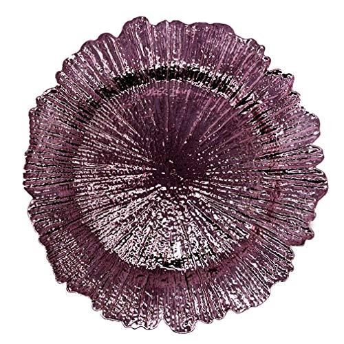 Allgala Runde Platzteller, 33 cm, 48 Stück, von Reef Purple HD80338