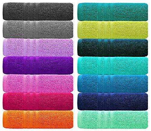 Lashuma 2er Set Handtücher 50x100 cm - London Premium Frottiertücher aus 100%...
