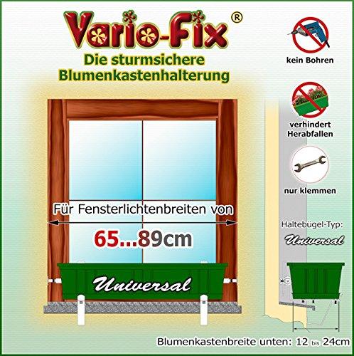 Vario-Fix Universal Haltebügel für 12cm bis 24cm Blumenkasten mit 40cm...