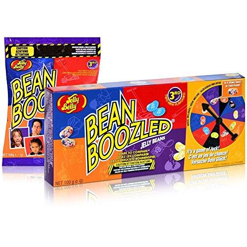 Jelly Belly Bean Boozled Set Glücksrad plus eine Tüte Beans, 1er Pack (1 x 100...