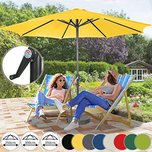 Sonnenschirm in Ø 2,5m / Ø 3m / Ø 3,5m - aus Stahlrohr und Wasserabweisender...