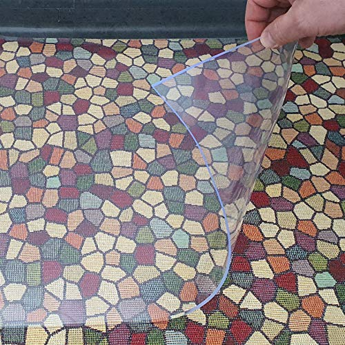 DecoHomeTextil Heimtextilmanufaktur Transparente Napfunterlage Futtermatte für...