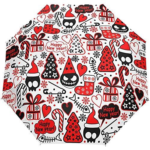 Weihnachten Neujahr Winter Roter Schädel Baum Boo Auto Öffnen Schließen...