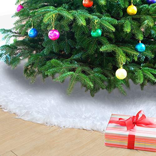 Naler Weihnachtsbaumdecke Schneeweiß Weihnachtsbaum Unterlage Christbaum Platz...