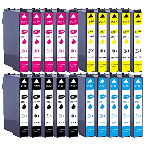 20 XL Druckerpatronen ersetzen Epson T1631 T1632 T1633 T1634 Nr.16 Nr.16XL...