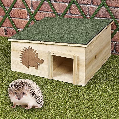 URBNLIVING Igelhaus, groß, aus Holz, regendicht, Nistkasten – Outdoor Garten...