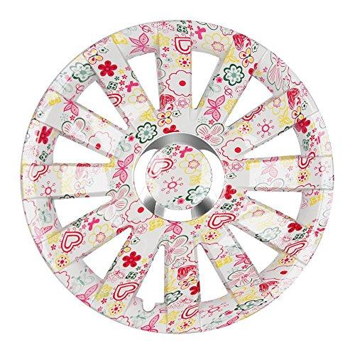(Farbe und Größe wählbar!) 13 Zoll Radkappen ONYX (Flowers) passend für fast...