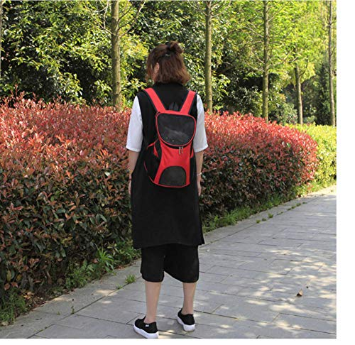 KNKM Shoulder Travel Bag Handtasche Für Kleine Hunde/Katzen-Rot