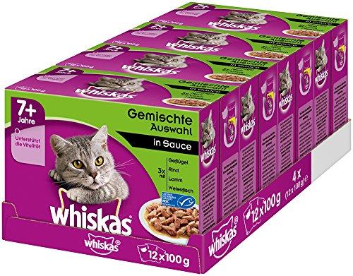 Whiskas 7 + Katzenfutter – Gemischte Auswahl in Sauce – Hochwertiges...