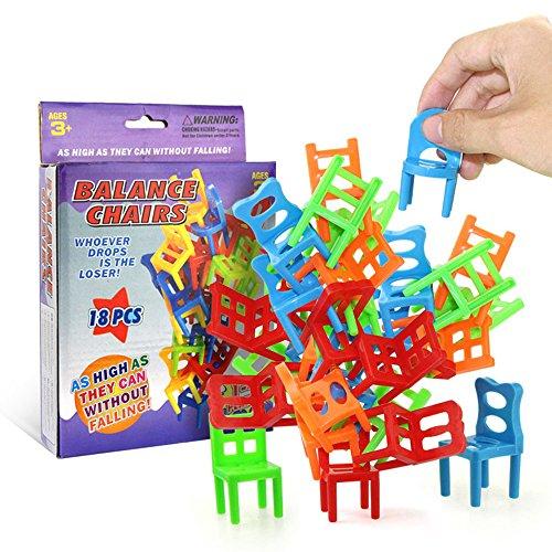 Leeofty 18 Stücke Balancing Stühle Set Assortierte Stapelstühle Spiel Kinder...