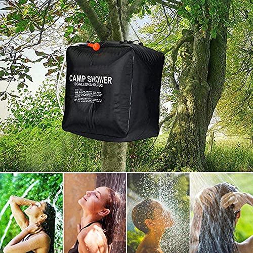 Campingdusche Outdoor Solar-Duschtasche mit Duschkopf, 40L, Tragbare Beheizte...